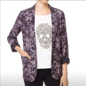 Aritzia Talula Kent blazer, purple pattern. size 0